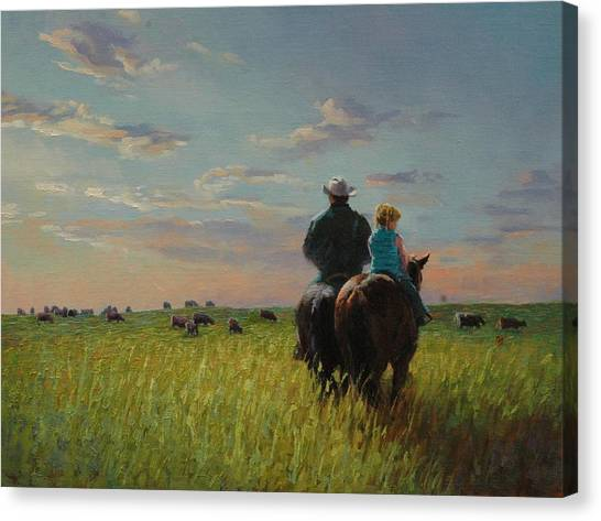 Prairie Sunrises Canvas Print - Take Your Daughter To Work Day by Jim Clements