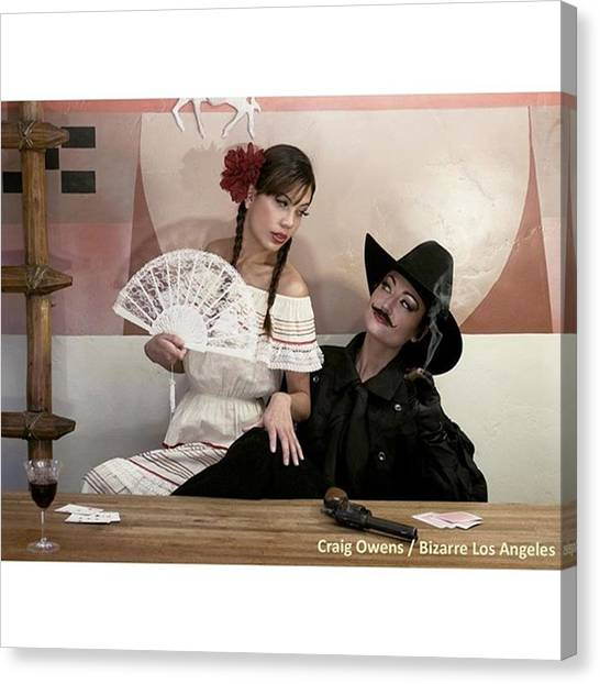 Los Angeles Canvas Print - Taken Inside The Den Of The Zane Grey by Sad Hill - Bizarre Los Angeles Archive