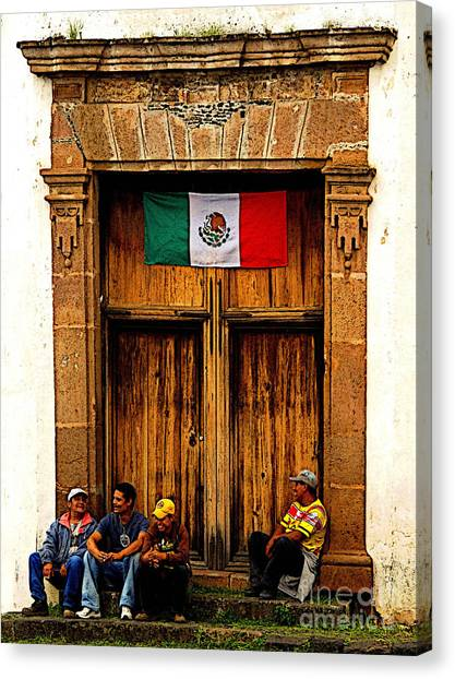 Taking A Break Canvas Print by Mexicolors Art Photography