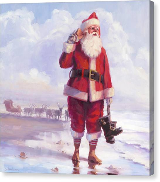 December Canvas Print - Taking A Break by Steve Henderson