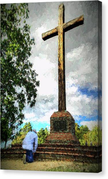 Take A Knee Canvas Print - Taking A Knee Where It Matters by Jerry Gammon