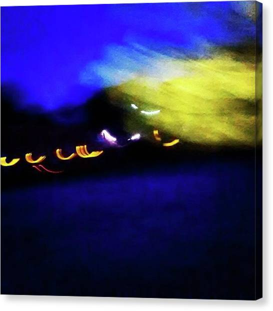 Art Movements Canvas Print - Taking Flight. Abstract At Night. On by Genevieve Esson