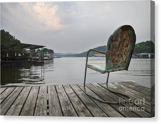Sittin' On The Dock  Canvas Print