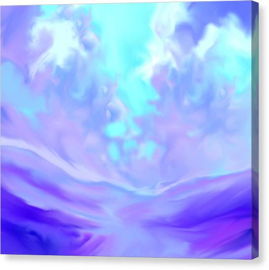 Talking With God Iv Canvas Print by Anne Hamilton