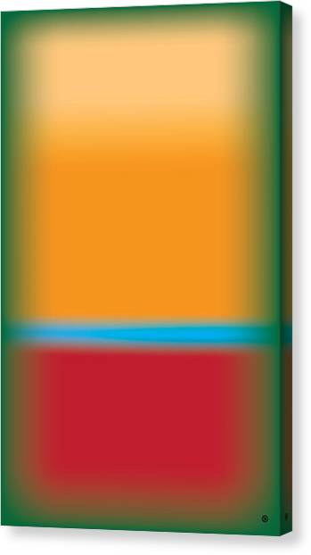 Tall Abstract Color Canvas Print