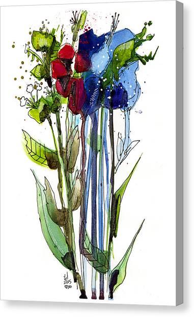 Tall Bouquet Canvas Print