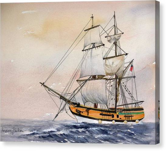 Tall Masted Ship Canvas Print by Lynne Parker