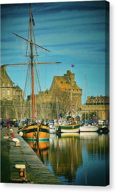 Tall Ship In Saint Malo Canvas Print