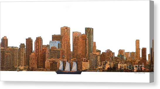 Toronto Fc Canvas Print - Tall Ship In Toronto Harbour by Nina Silver