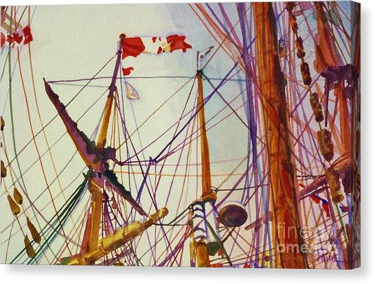 Tall Ship Lines Canvas Print