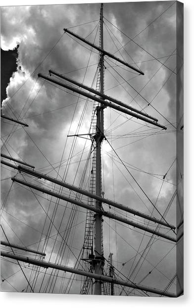 Tall Ship Masts Canvas Print