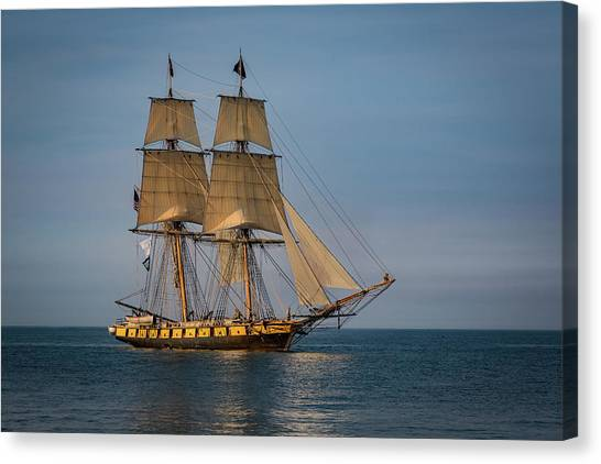Tall Ship U.s. Brig Niagara Canvas Print