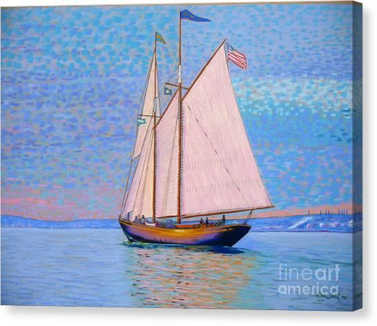 Tall Ship Virginia Entering Halifax Harbour Canvas Print