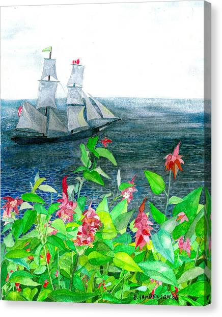 Tall Ships In Victoria Bc Canvas Print