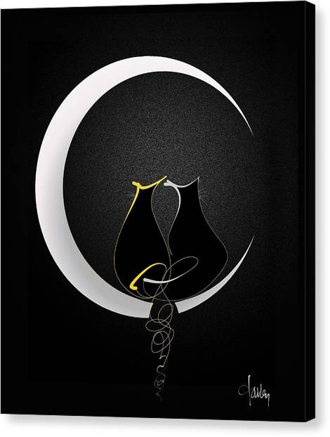 Talleycats - Moonglow Canvas Print