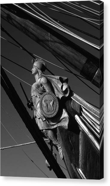 Tallship Figure Head Canvas Print