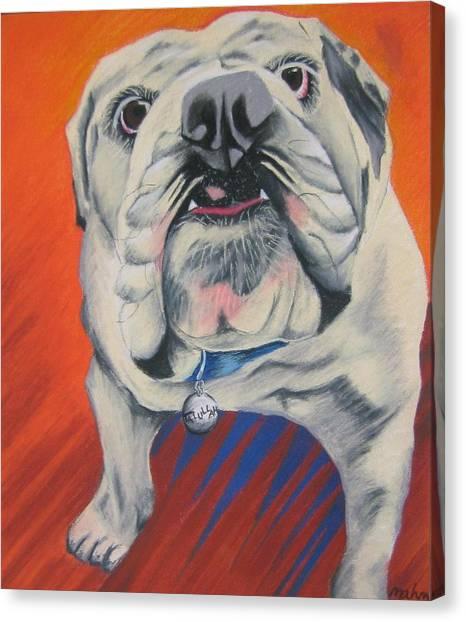 English Bull Dogs Canvas Print - Talullah by Michelle Hayden-Marsan