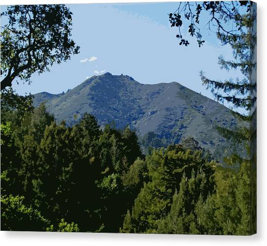 Canvas Print featuring the photograph Tamalpais...the Sleeping Princess by Ben Upham III