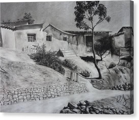 Tambo Canvas Print by Estephy Sabin Figueroa