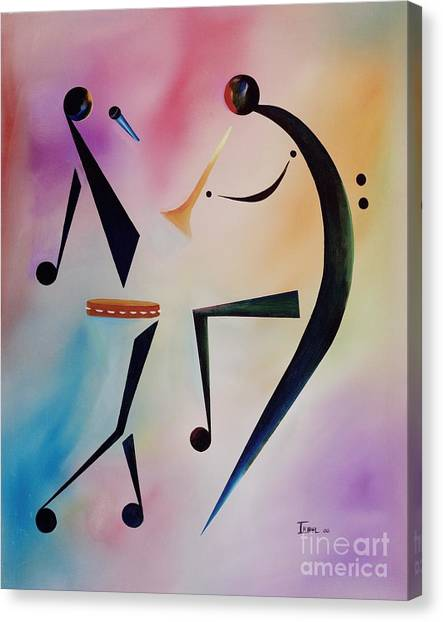 Percussion Instruments Canvas Print - Tambourine Jam by Ikahl Beckford