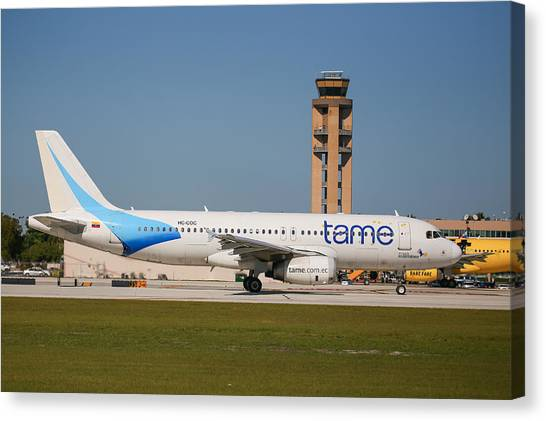 Tame Airline Canvas Print