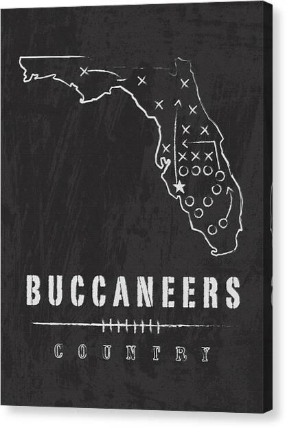 Tampa Bay Buccaneers Canvas Print - Tampa Bay Buccaneers Art - Nfl Football Wall Print by Damon Gray