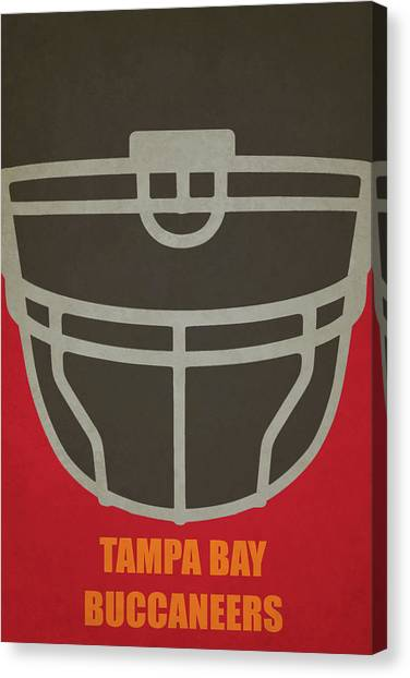 Tampa Bay Buccaneers Canvas Print - Tampa Bay Buccaneers Helmet Art by Joe Hamilton