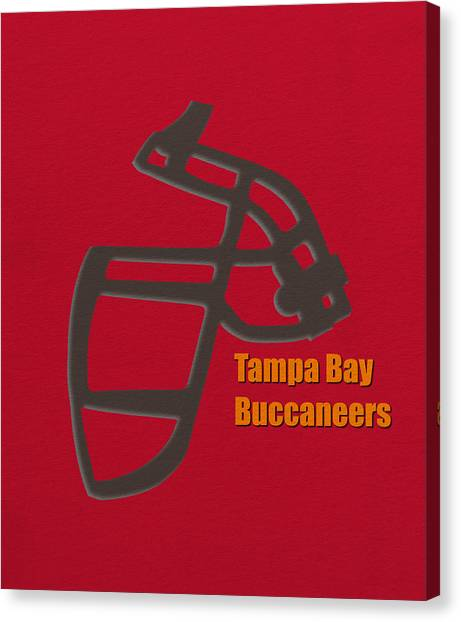Tampa Bay Buccaneers Canvas Print - Tampa Bay Buccaneers Retro by Joe Hamilton