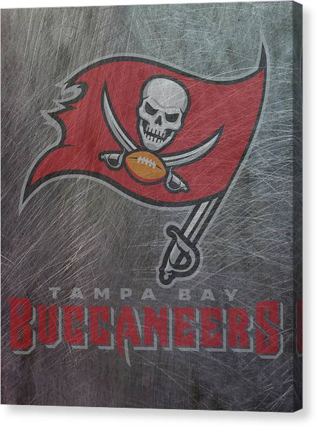 Tampa Bay Buccaneers Canvas Print - Tampa Bay Buccaneers Translucent Steel by Movie Poster Prints