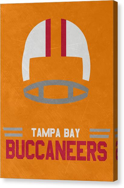Tampa Bay Buccaneers Canvas Print - Tampa Bay Buccaneers Vintage Art by Joe Hamilton