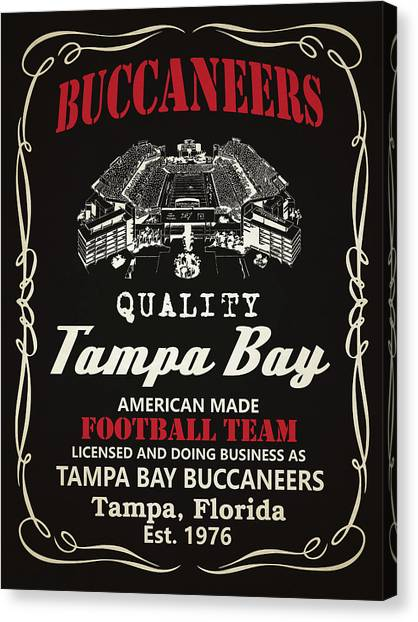 Tampa Bay Buccaneers Canvas Print - Tampa Bay Buccaneers Whiskey by Joe Hamilton