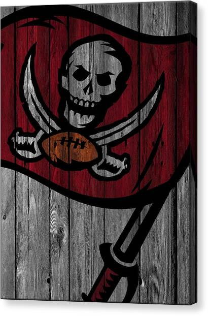 Tampa Bay Buccaneers Canvas Print - Tampa Bay Buccaneers Wood Fence by Joe Hamilton