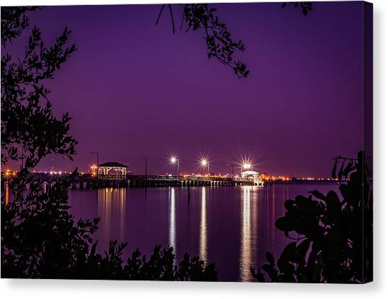 Tampa Bay Fishing Pier Canvas Print