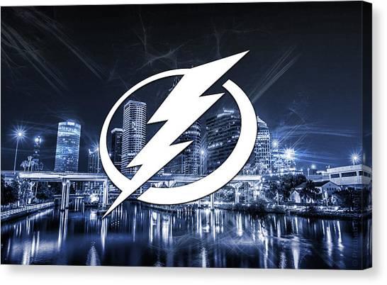 Tampa Bay Lightning Canvas Print - Tampa Bay Lightning Artwork  by Nicholas Legault