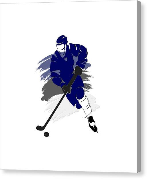 Tampa Bay Lightning Canvas Print - Tampa Bay Lightning Player Shirt by Joe Hamilton