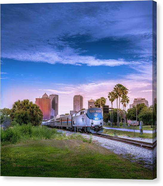 Freight Trains Canvas Print - Tampa Departure by Marvin Spates