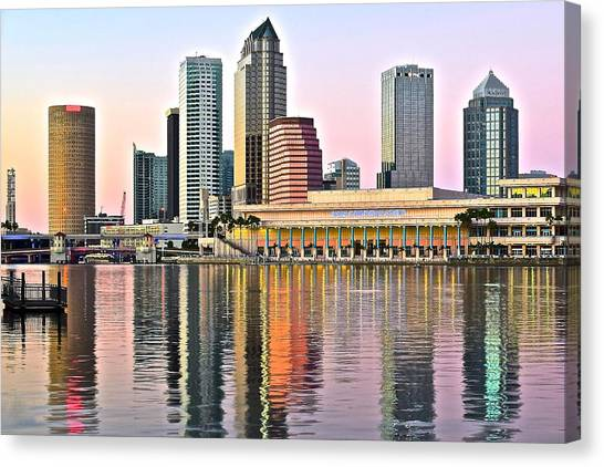 Tampa In Vivid Color Canvas Print
