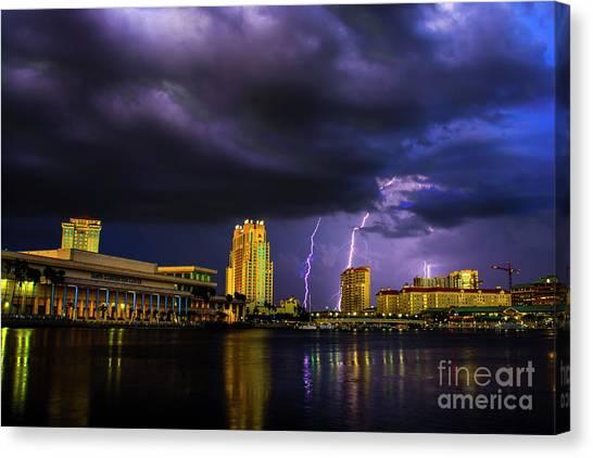 Tampa Bay Lightning Canvas Print - Tampa Lightning by Quinn Sedam