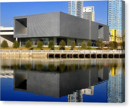 Pre-modern Art Canvas Print - Tampa Museum Of Art Pre Opeining 2010  by David Lee Thompson