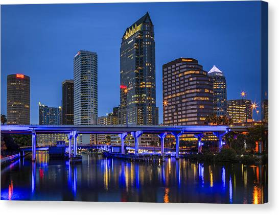 Tampa Night Canvas Print