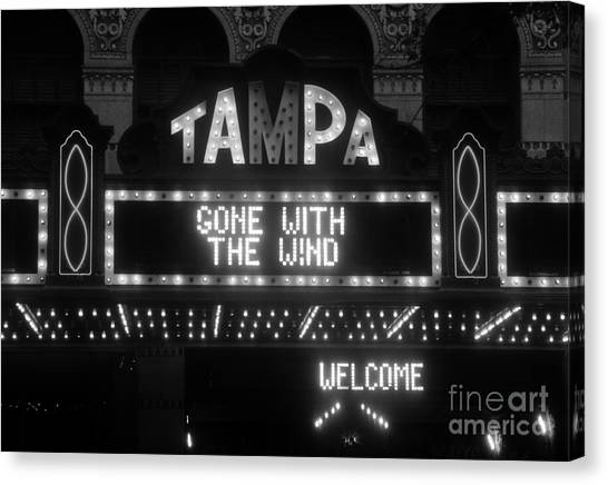 Gone With The Wind Canvas Print - Tampa Theatre 1939 by David Lee Thompson