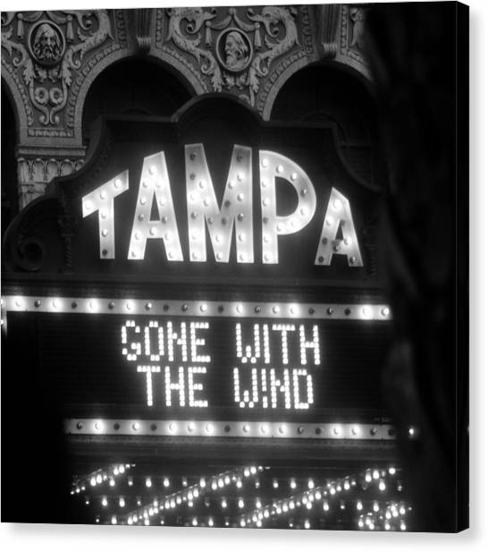 Gone With The Wind Canvas Print - Tampa Theatre Gone With The Wind by David Lee Thompson