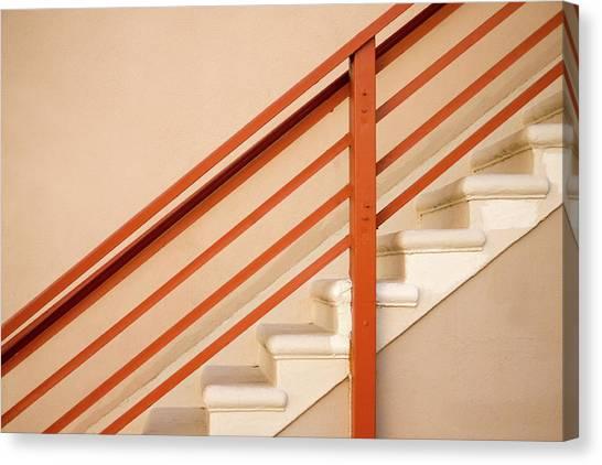 Tan Stairs Venice Beach California Canvas Print