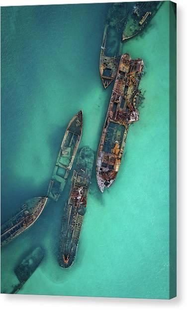Tangalooma Wrecks Canvas Print