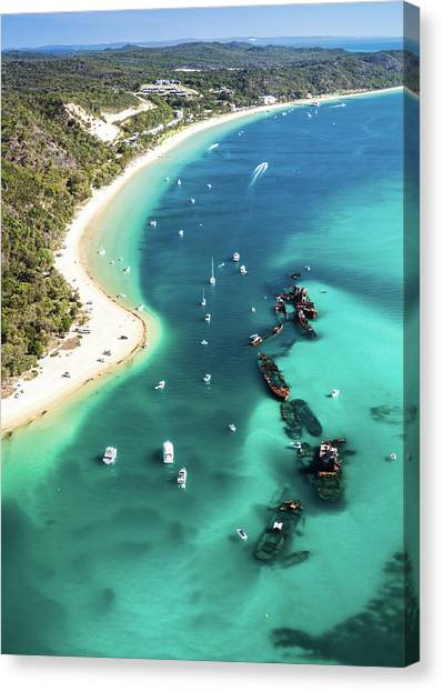 Tangalooma Wrecks Canvas Print