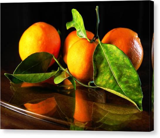 Tangerines Canvas Print