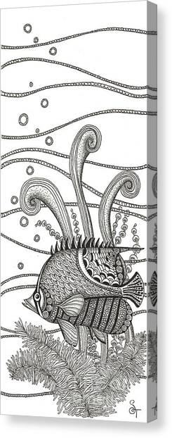 Tropical Beach Canvas Print - Tangle Fish by Stephanie Troxell