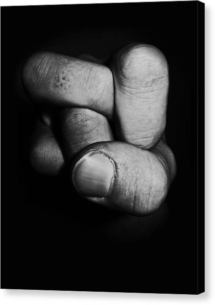Hands Canvas Print - Tangled Fist by Nicklas Gustafsson