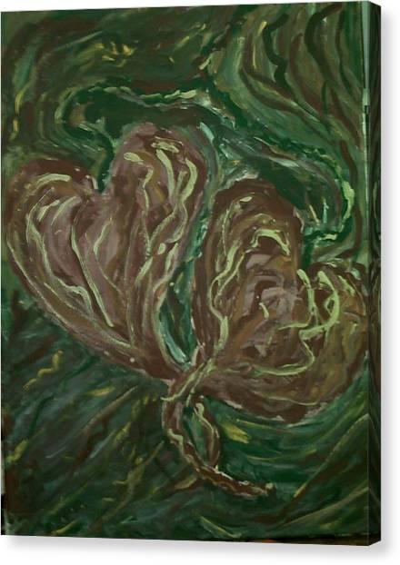 Tangled Hearts Canvas Print by Brenda Adams