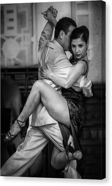 Tangled In Tango Canvas Print
